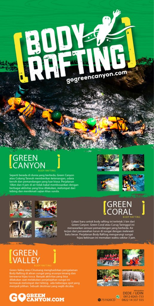 body rafting green canyon pangandaran