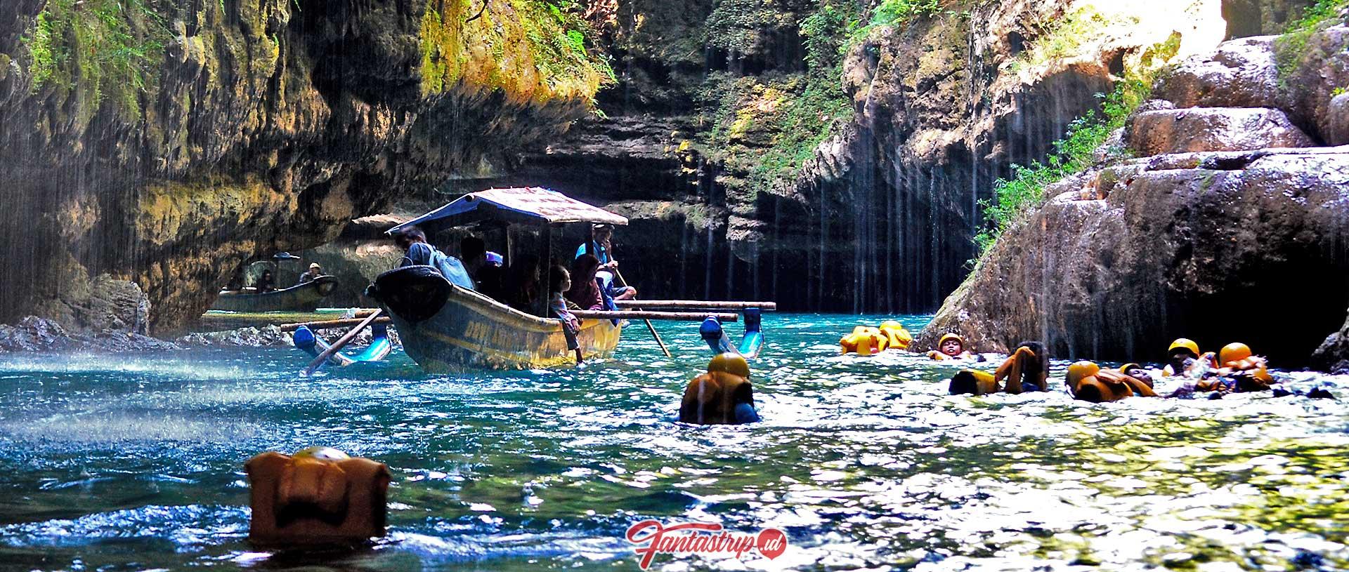 wisata perahu dan body rafting green canyon